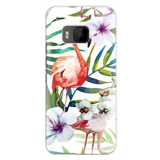 Htc One M9 Cases - Tropical Flamingo