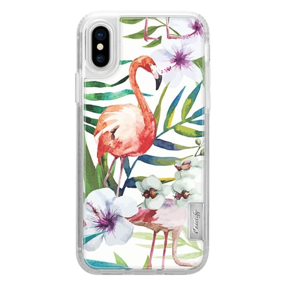 iPhone X Cases - Tropical Flamingo