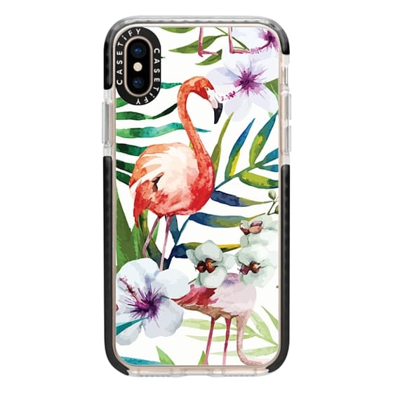 iPhone XS Cases - Tropical Flamingo