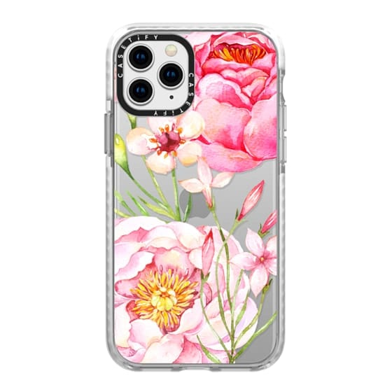 iPhone 11 Pro Cases - Pretty Pink Peonies - Watercolor Floral