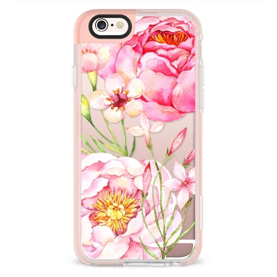 iPhone 6s Cases - Pretty Pink Peonies - Watercolor Floral