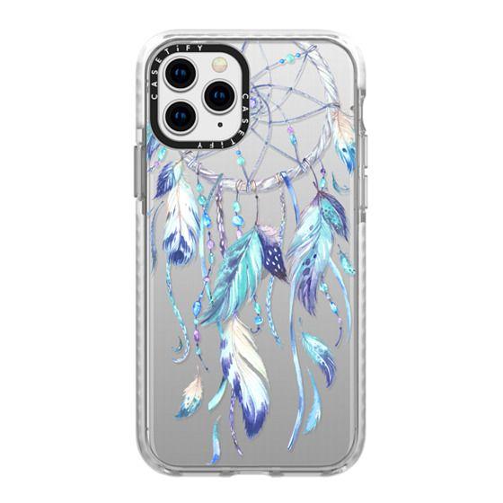 iPhone 11 Pro Cases - Watercolor Blue Dreamcatcher Feather Dream Catcher