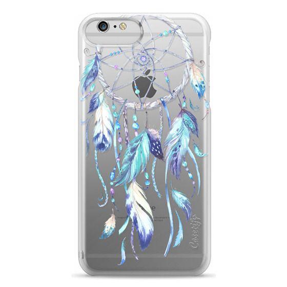 iPhone 6 Plus Cases - Watercolor Blue Dreamcatcher Feather Dream Catcher