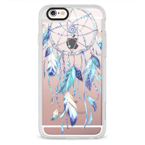 iPhone 4 Cases - Watercolor Blue Dreamcatcher Feather Dream Catcher