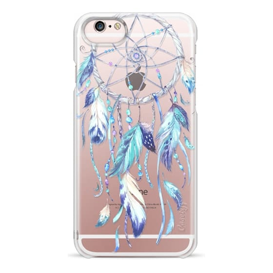 iPhone 6s Cases - Watercolor Blue Dreamcatcher Feather Dream Catcher