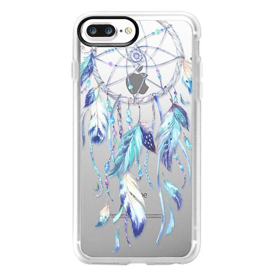 iPhone 7 Plus Cases - Watercolor Blue Dreamcatcher Feather Dream Catcher