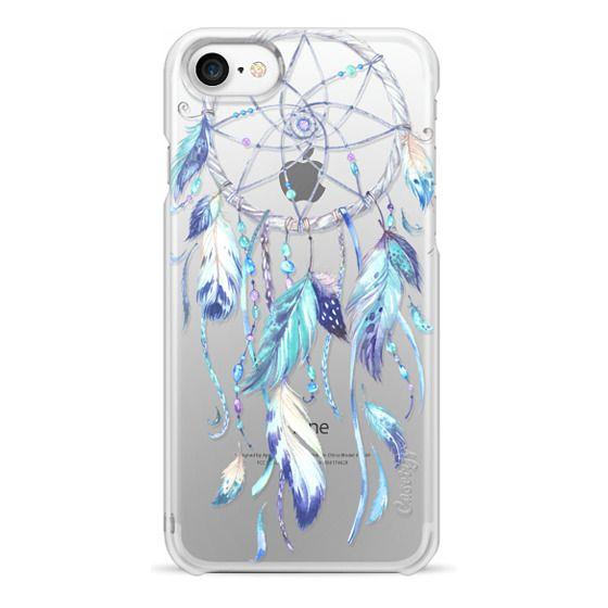 iPhone 7 Cases - Watercolor Blue Dreamcatcher Feather Dream Catcher