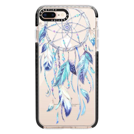 iPhone 8 Plus Cases - Watercolor Blue Dreamcatcher Feather Dream Catcher
