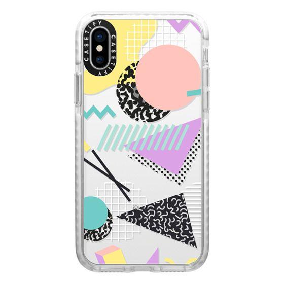 iPhone X Cases - Pastel Geometric Memphis Pattern