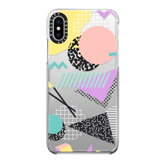 iPhone X Cases - Pastel Geometric Memphis Pattern