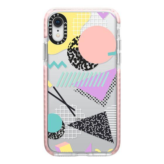 iPhone XR Cases - Pastel Geometric Memphis Pattern