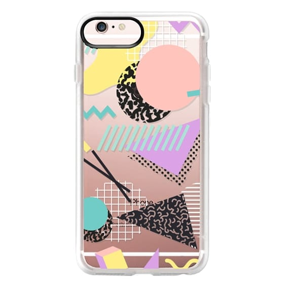 iPhone 6s Plus Cases - Pastel Geometric Memphis Pattern