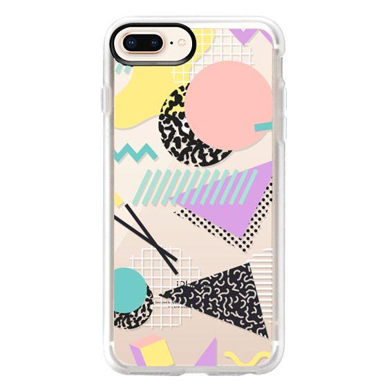 iPhone 8 Plus Cases - Pastel Geometric Memphis Pattern