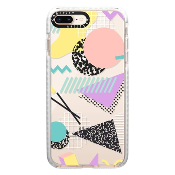 iPhone 8 Plus Cases - Pastel Geometric Memphis Pattern