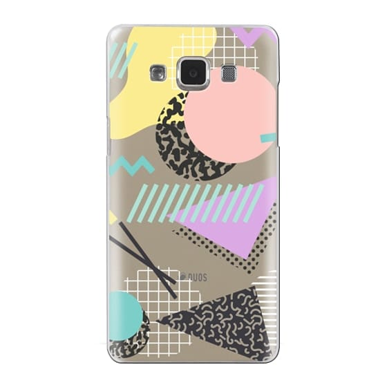 Samsung Galaxy A5 Cases - Pastel Geometric Memphis Pattern