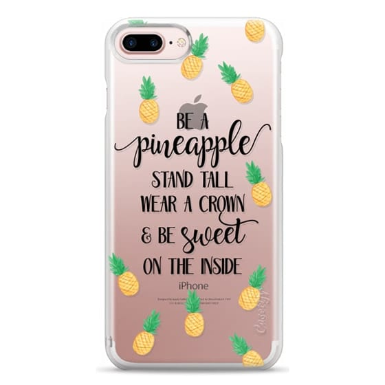 iPhone 7 Plus Cases - Be a Pineapple - Watercolor Pineapples