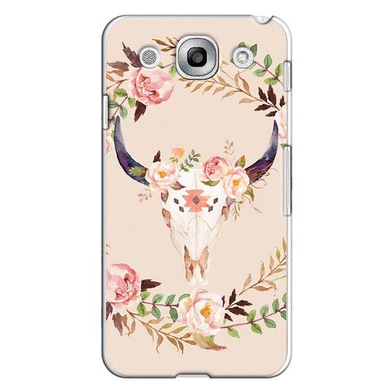 Optimus G Pro Cases - Watercolour Floral Bull Skull