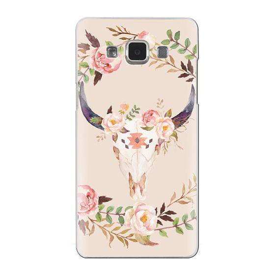 Samsung Galaxy A5 Cases - Watercolour Floral Bull Skull