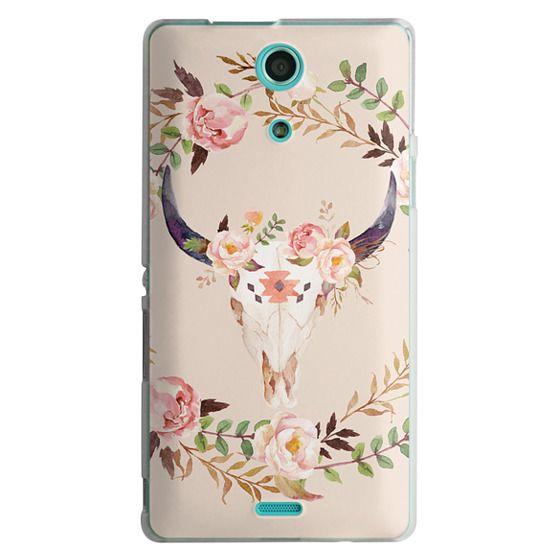 Sony Zr Cases - Watercolour Floral Bull Skull