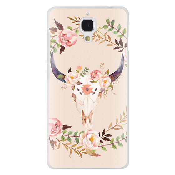 Xiaomi 4 Cases - Watercolour Floral Bull Skull