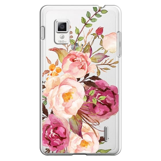 Watercolour Floral Bouquet - Transparent