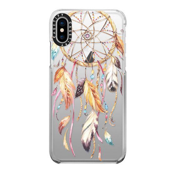 iPhone X Cases - Watercolor Dreamcatcher Feather Dream Catcher