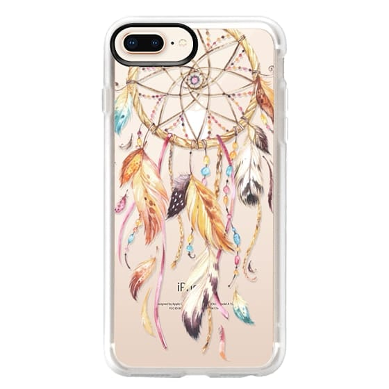 iPhone 8 Plus Cases - Watercolor Dreamcatcher Feather Dream Catcher