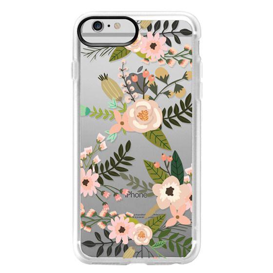 iPhone 6 Plus Cases - Peachy Pink Florals - Trasparent