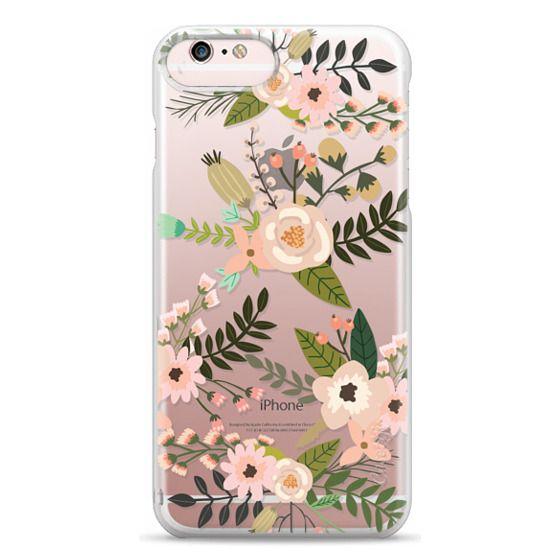 iPhone 6s Plus Cases - Peachy Pink Florals - Trasparent