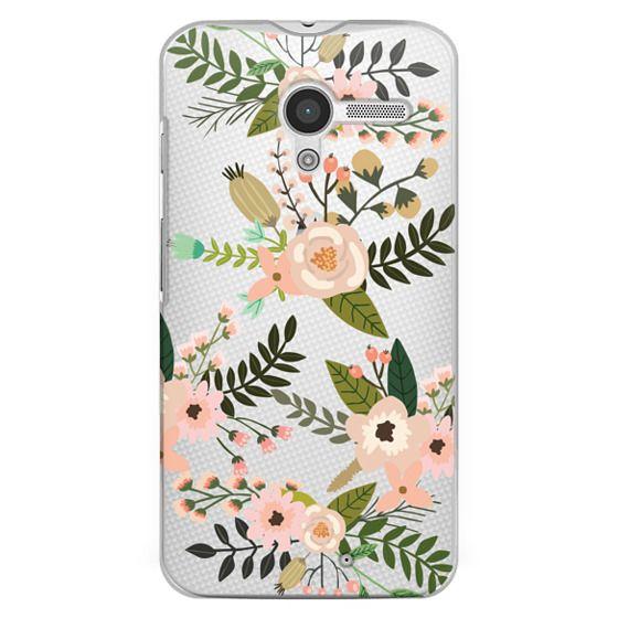 Moto X Cases - Peachy Pink Florals - Trasparent