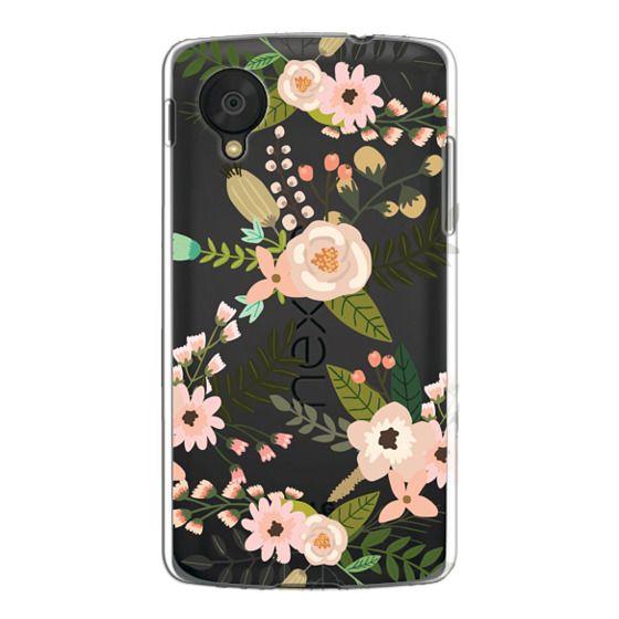 Nexus 5 Cases - Peachy Pink Florals - Trasparent