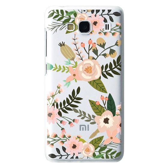 Redmi 2 Cases - Peachy Pink Florals - Trasparent
