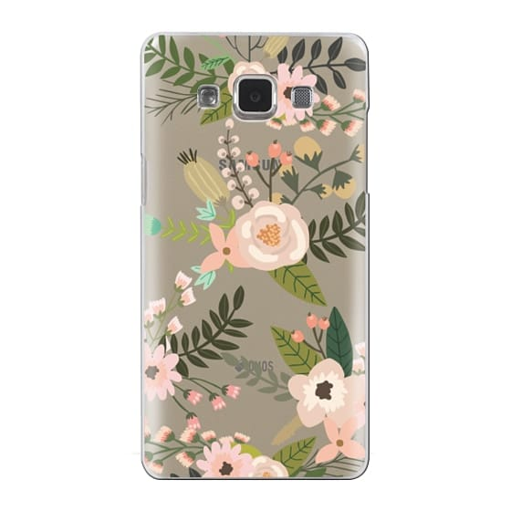 Samsung Galaxy A5 Cases - Peachy Pink Florals - Trasparent