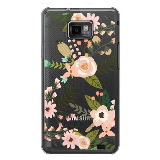 Samsung Galaxy S2 Cases - Peachy Pink Florals - Trasparent