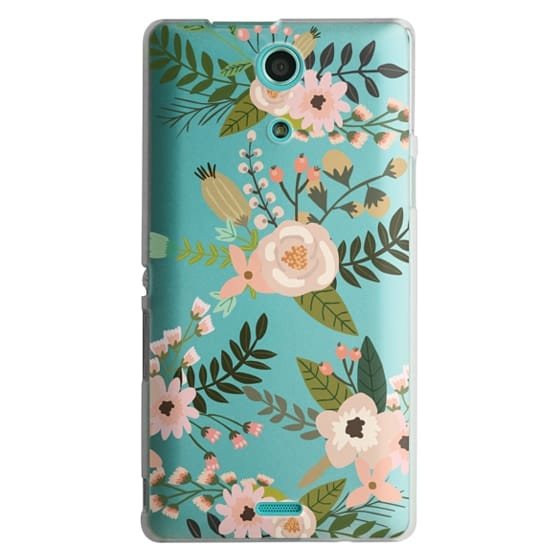 Sony Zr Cases - Peachy Pink Florals - Trasparent
