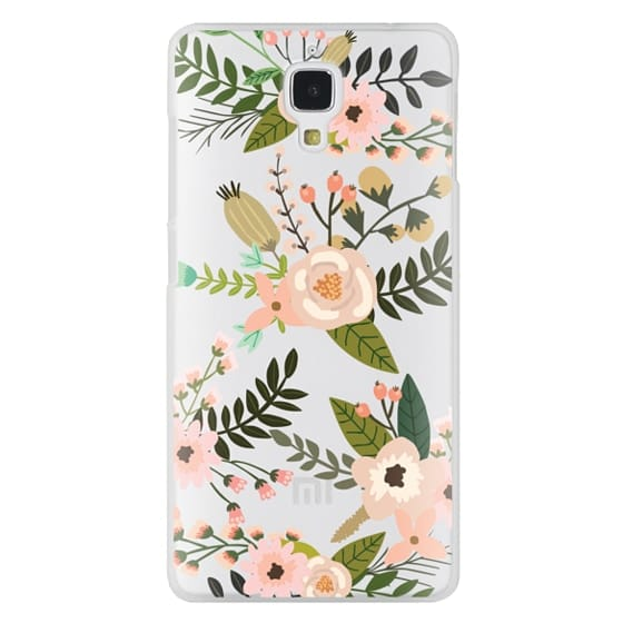 Xiaomi 4 Cases - Peachy Pink Florals - Trasparent