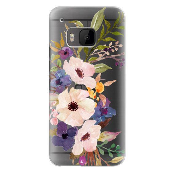 Htc One M9 Cases - Watercolour Floral Bouquet 2 - Transparent