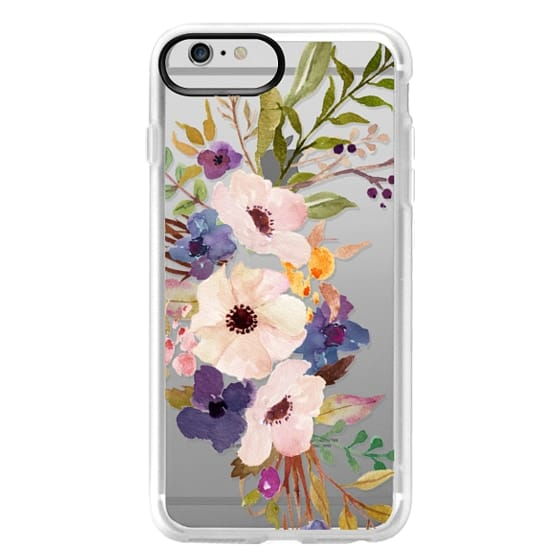 iPhone 6 Plus Cases - Watercolour Floral Bouquet 2 - Transparent