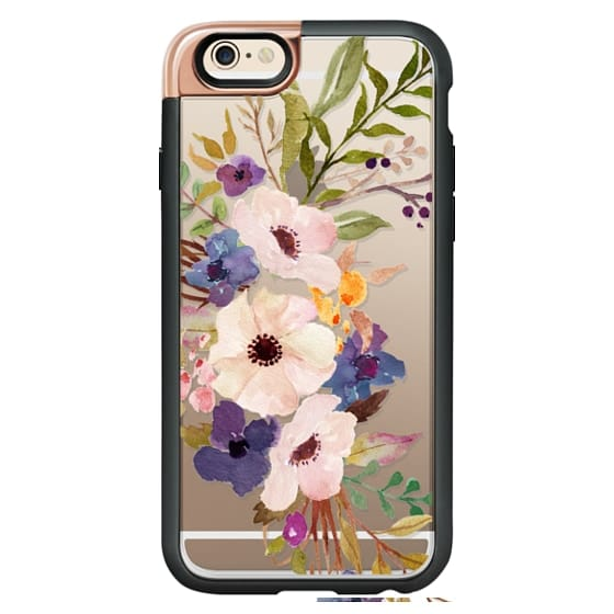 iPhone 4 Cases - Watercolour Floral Bouquet 2 - Transparent