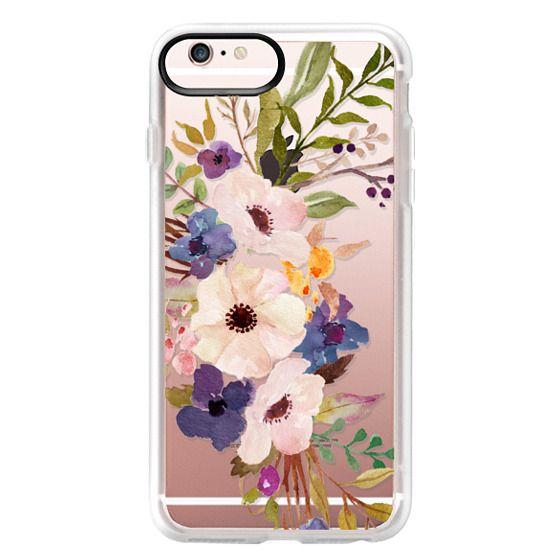 iPhone 6s Plus Cases - Watercolour Floral Bouquet 2 - Transparent