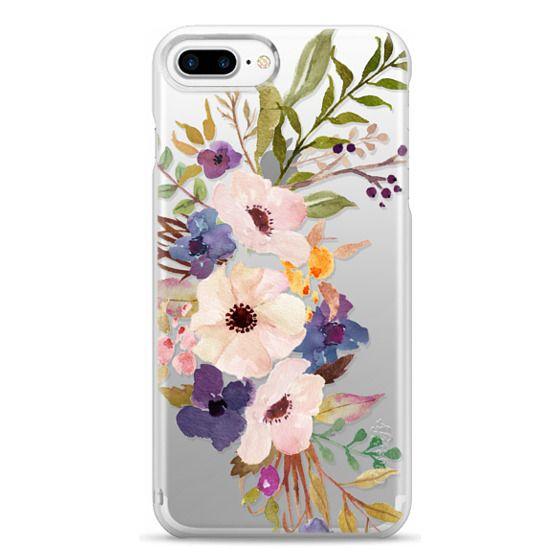 iPhone 7 Plus Cases - Watercolour Floral Bouquet 2 - Transparent