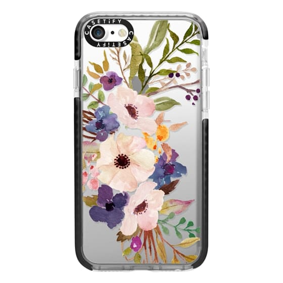iPhone 7 Cases - Watercolour Floral Bouquet 2 - Transparent