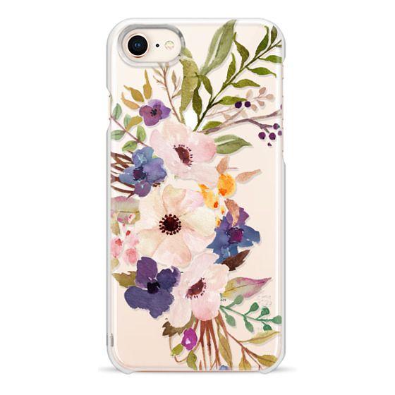 iPhone 8 Cases - Watercolour Floral Bouquet 2 - Transparent