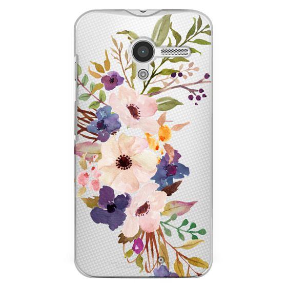 Moto X Cases - Watercolour Floral Bouquet 2 - Transparent