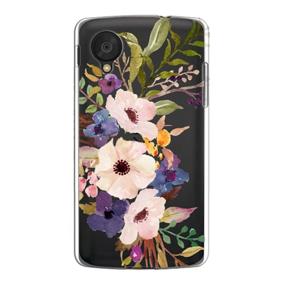 Nexus 5 Cases - Watercolour Floral Bouquet 2 - Transparent