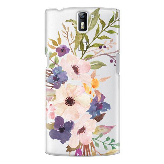 One Plus One Cases - Watercolour Floral Bouquet 2 - Transparent