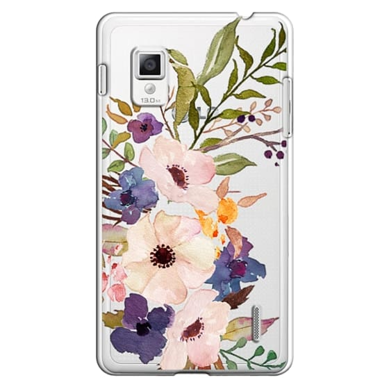 Optimus G Cases - Watercolour Floral Bouquet 2 - Transparent