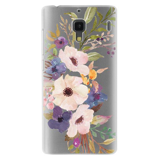 Redmi 1s Cases - Watercolour Floral Bouquet 2 - Transparent