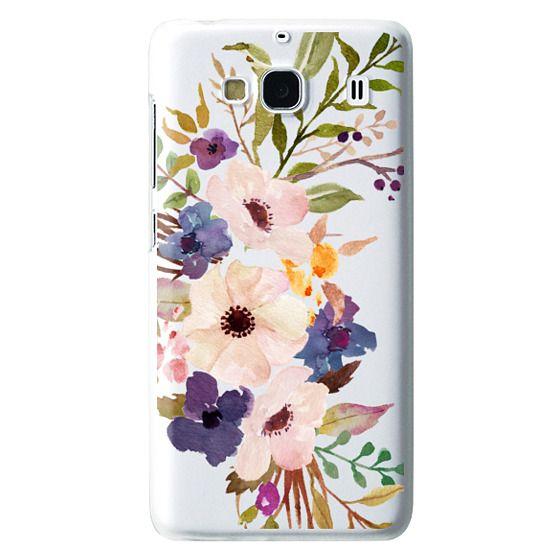 Redmi 2 Cases - Watercolour Floral Bouquet 2 - Transparent