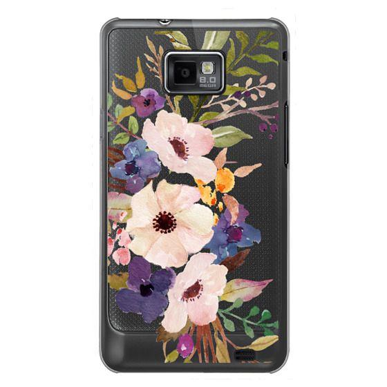 Samsung Galaxy S2 Cases - Watercolour Floral Bouquet 2 - Transparent